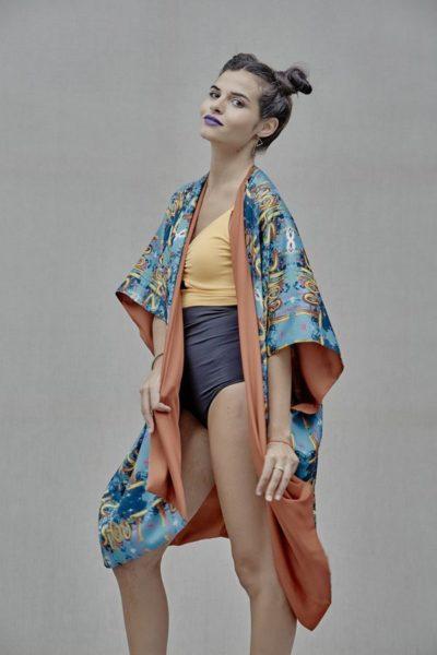 Artsy Kimono contemporary art - Arena Martínez - Shoot kimono -2