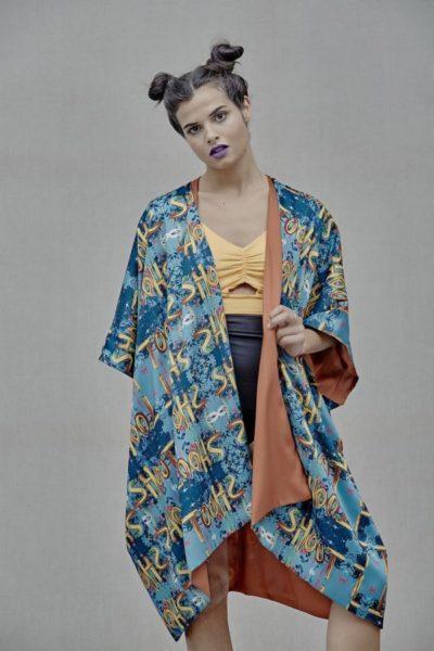 Artsy Kimono contemporary art - Arena Martínez - Shoot kimono -3