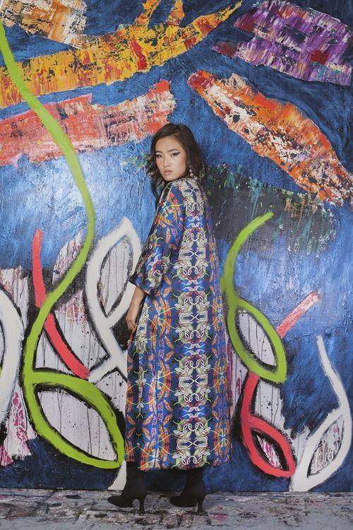 Serendipity Girl Blue Wall