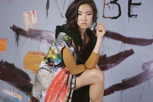 Serendipity Mujer con kimono esperando