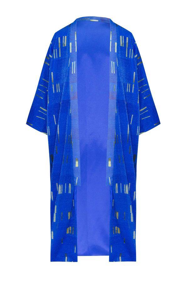 Kimono Blue my Mind with Lurex