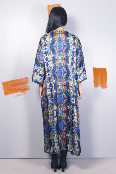 Artsy kimonos decorated with contemporary art-Arena Martinez-Serendipity Blue Habana-3
