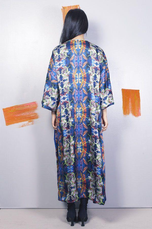 Artsy kimonos decorated with contemporary art-Arena Martinez-Serendipity Blue Habana-3