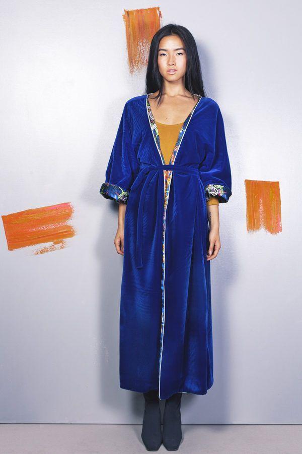 Artsy kimonos decorated with contemporary art-Arena Martinez-Serendipity Blue Habana-4