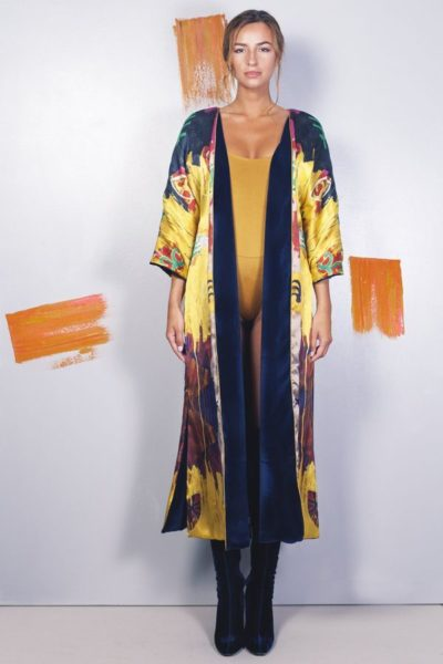 Kimonos exclusivos de marca - Arena Martínez Boutique online - Kimono Raining yellow