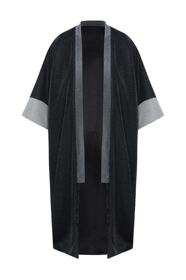 Kimono Three Shiny Stones with Lurex