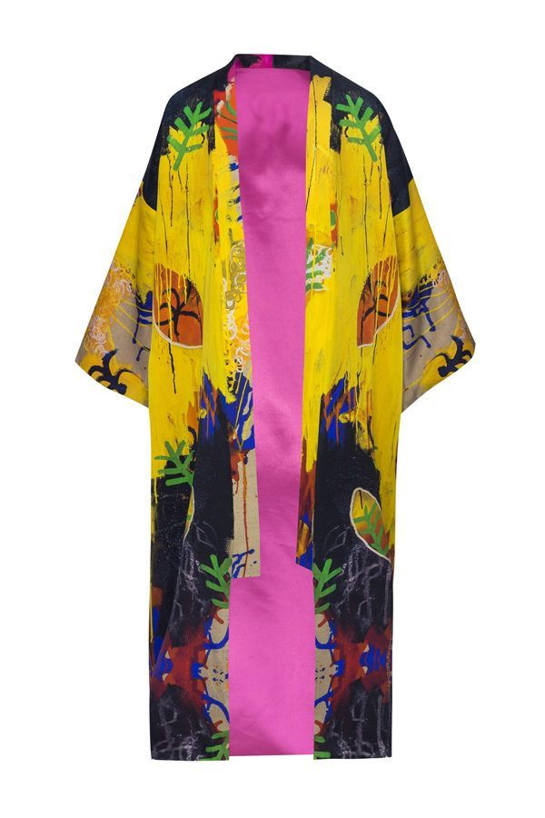 Kimonos exclusivos de marca - Arena Martínez Boutique online - Kimono Rainy yellow long