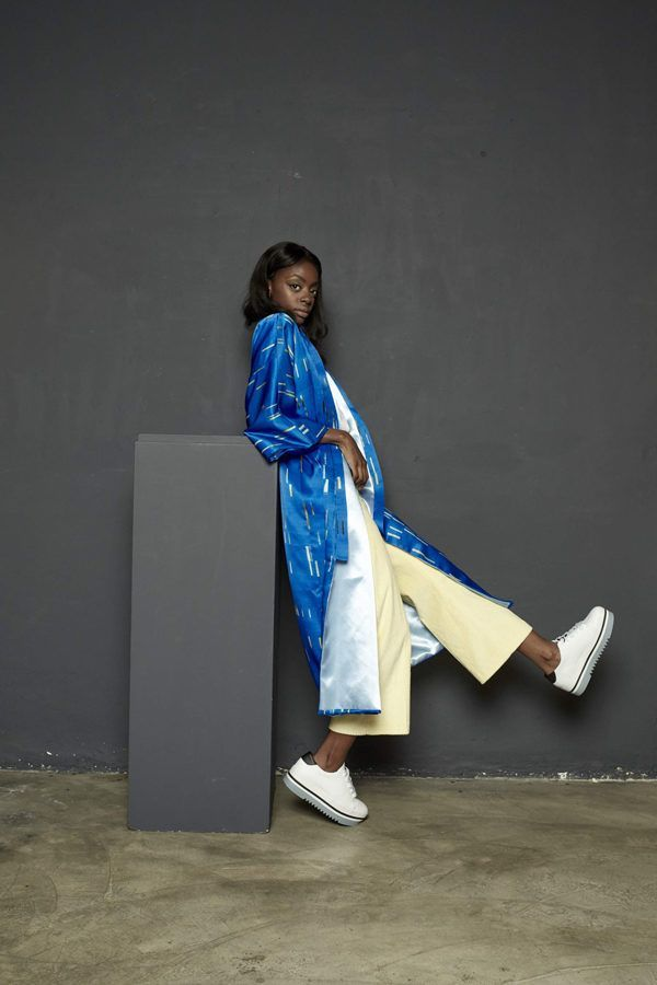 Artsy Kimono contemporary art - Arena Martínez - baby blue long - 1