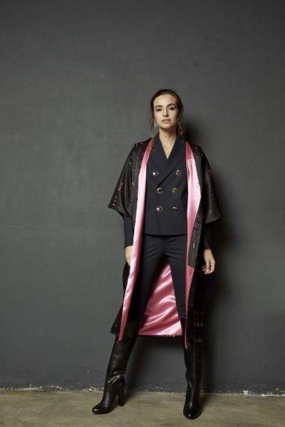 Kimono decorated with contemporary art - Arena Martínez - kimono queen in the night long -2