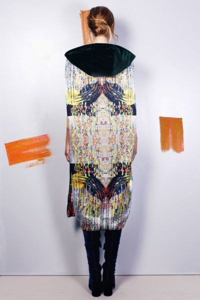 Artsy kimonos decorated with contemporary art-Arena Martinez-Serendipity Serendepity forest cape-2
