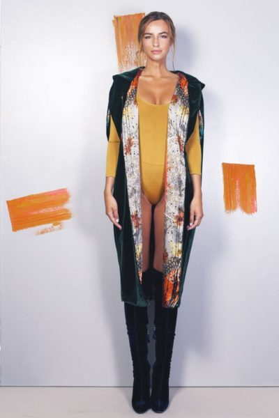 Artsy kimonos decorated with contemporary art-Arena Martinez-Serendipity Serendepity forest cape-3
