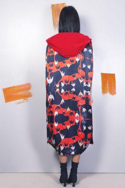 Artsy kimonos decorated with contemporary art-Arena Martinez-Serendipity Serendepity poppyland cape-1