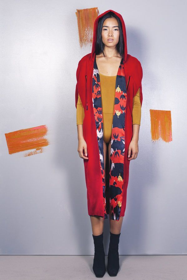 Artsy kimonos decorated with contemporary art-Arena Martinez-Serendipity Serendepity poppyland cape-2