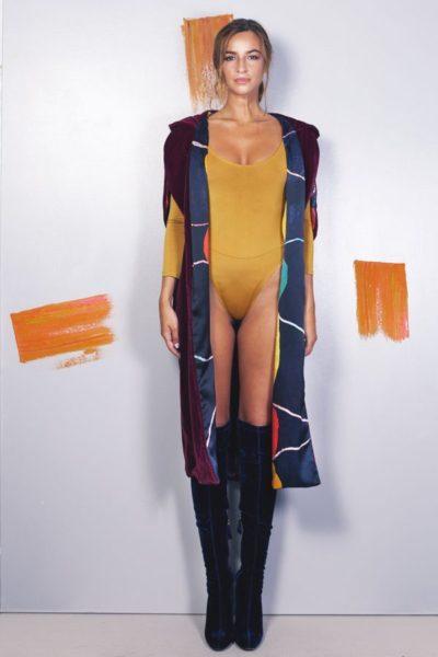 Artsy kimonos decorated with contemporary art-Arena Martinez-Serendipity Serendepity stars cape-2