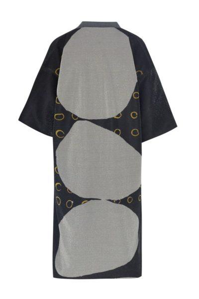 Kimono decorated with contemporary art - Arena Martínez - kimono Three Stones lurex -2
