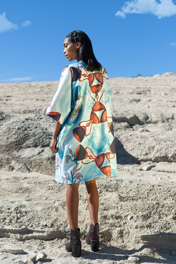 Coat decorated with contemporary art - Arena Martínez - Coat-9 of cups coat- 2