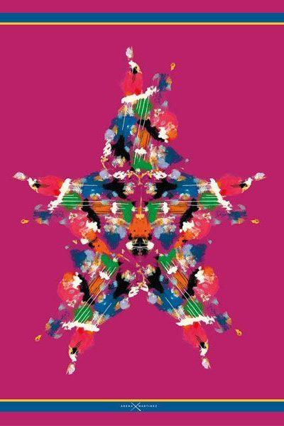 Pañuelos decorados con arte contemporáneo - Arena Martínez - Camisa inspirada en la obra de Papartus - Pañuelo Stars