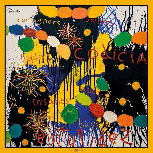 Pañuelos decorados con arte contemporáneo - Arena Martínez - Camisa inspirada en la obra de Papartus - Pañuelo Greed