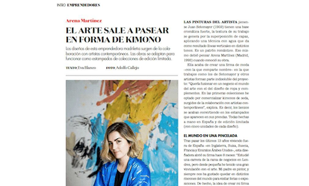 Kimonos de lujo con arte - Arena Martínez - Emprendedores - feat