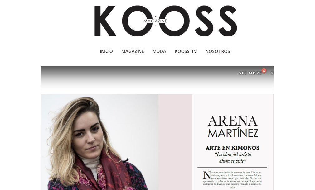 Luxury kimonos with art - Arena Martínez - Kooss magazine - feat