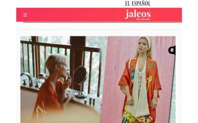 Laura Escanes wears a Sunrise kimono