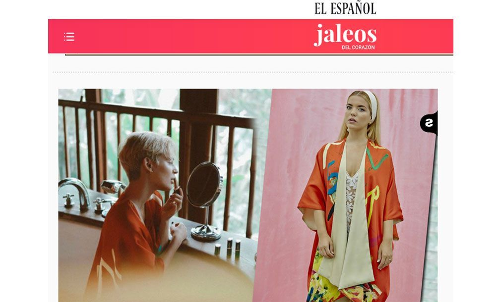 Luxury kimonos with art - Arena Martínez - Laura Escanes in El Español - feat