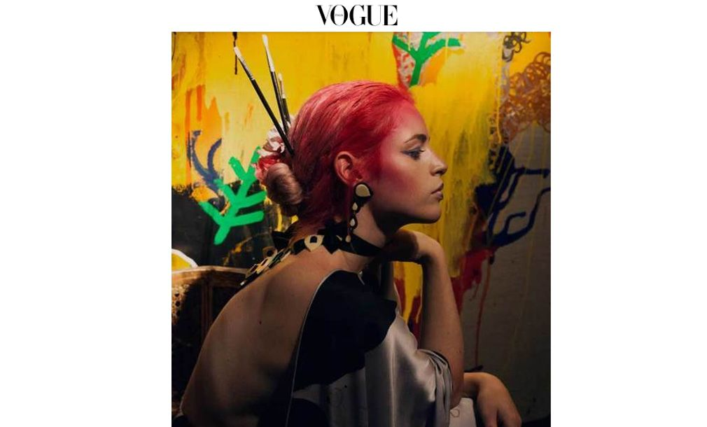 Luxury kimonos with art - Arena Martínez - Vogue - feat