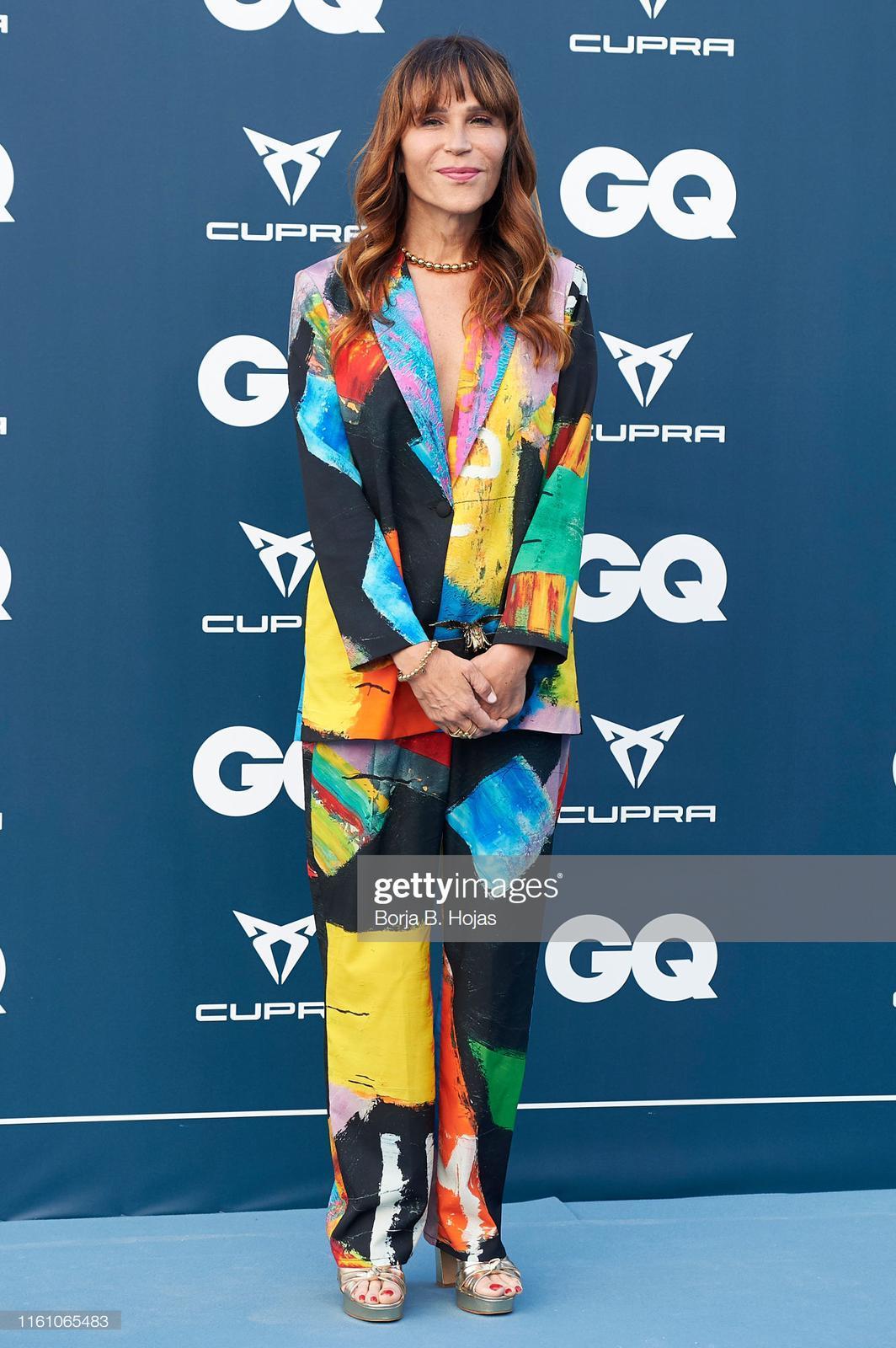 Antonia Sanjuan con traje de Arena Martínez en el 25 aniversario de la revista GQ