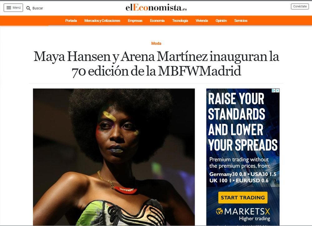 Contemporary art and fashion online store in Madrid - Spain - Arena Martínez - MBFWM - 2020 - El Economista