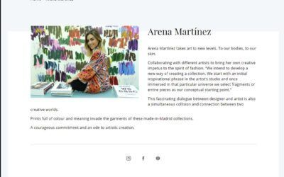 Arena Martínez takes art to new levels. To our bodies, to our skin. Ifema