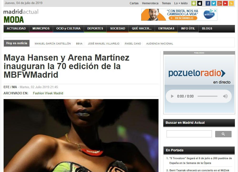 Contemporary art and fashion online store in Madrid - Spain - Arena Martínez - MBFWM - 2020 - Madrid actual