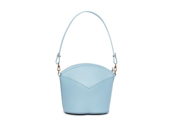 Exclusive leather bags decorated with art - Arena Martínez - Baby blue Susi Bag