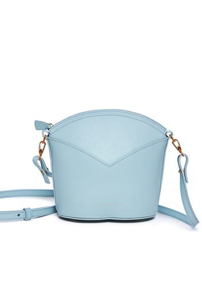 Exclusive leather bags decorated with art - Arena Martínez - Baby blue Susi Bag-1