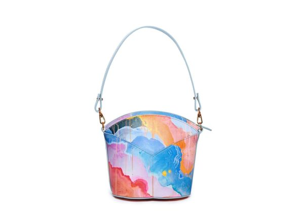 Exclusive leather bags decorated with art - Arena Martínez - Blue Candycruch Susi Bag