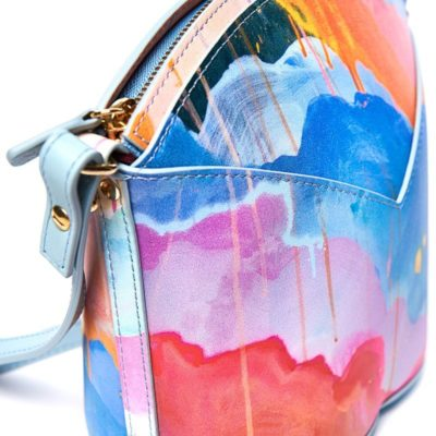Exclusive leather bags decorated with art - Arena Martínez - Blue Candycruch Susi Bag-2