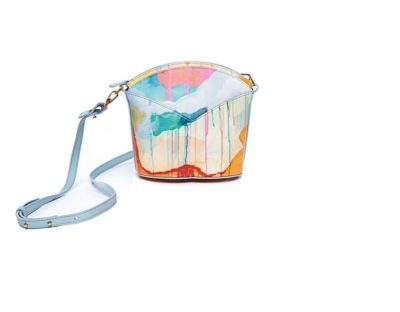 Exclusive leather bags decorated with art - Arena Martínez - Blue Candycruch Susi Bag-3