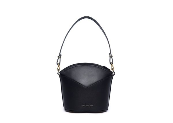Exclusive leather bags decorated with art - Arena Martínez - Black night Susi Bag-3