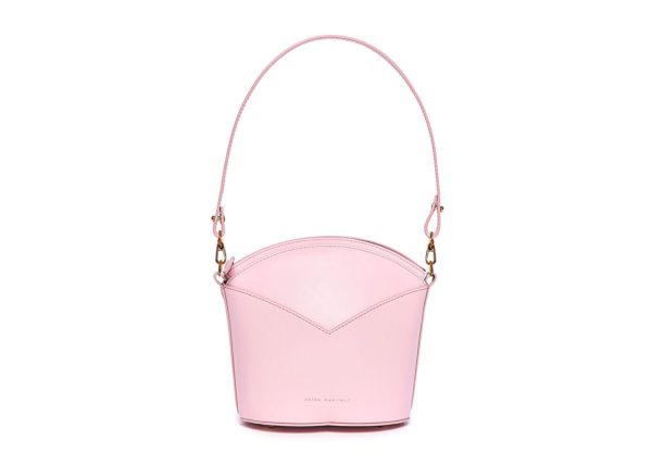 Exclusive leather bags decorated with art - Arena Martínez - Baby pink Susi Bag