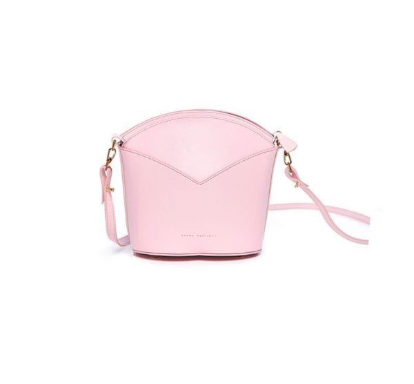 Exclusive leather bags decorated with art - Arena Martínez - Baby pink Susi Bag-1