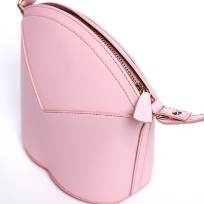 Exclusive leather bags decorated with art - Arena Martínez - Baby pink Susi Bag-2