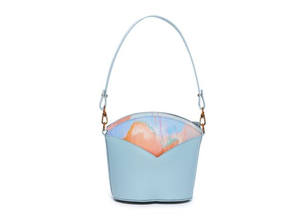 Bolsos exclusivos de piel decorados con arte contemporáneo - Arena Martínez - Blue Sky Susi Bag-2