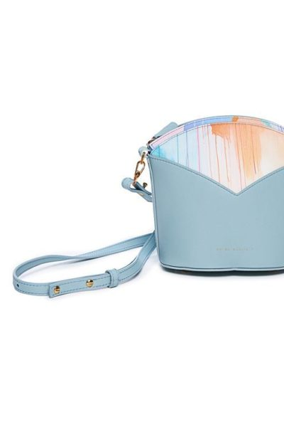 Exclusive leather bags decorated with art - Arena Martínez - Blue Sky Susi Bag-3