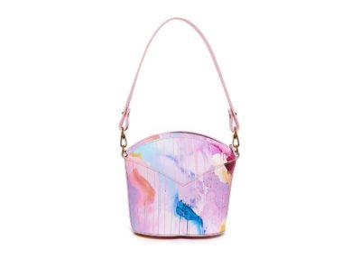 Bolsos exclusivos de piel decorados con arte contemporáneo - Arena Martínez - Pink Candycruch Susi Bag