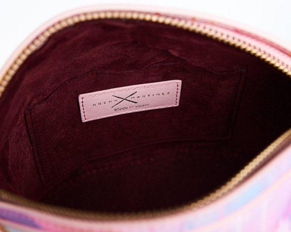 Bolsos exclusivos de piel decorados con arte contemporáneo - Arena Martínez - Pink Candycruch Susi Bag-1