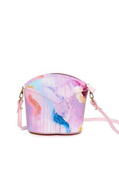 Exclusive leather bags decorated with art - Arena Martínez - Pink Candycruch Susi Bag-2