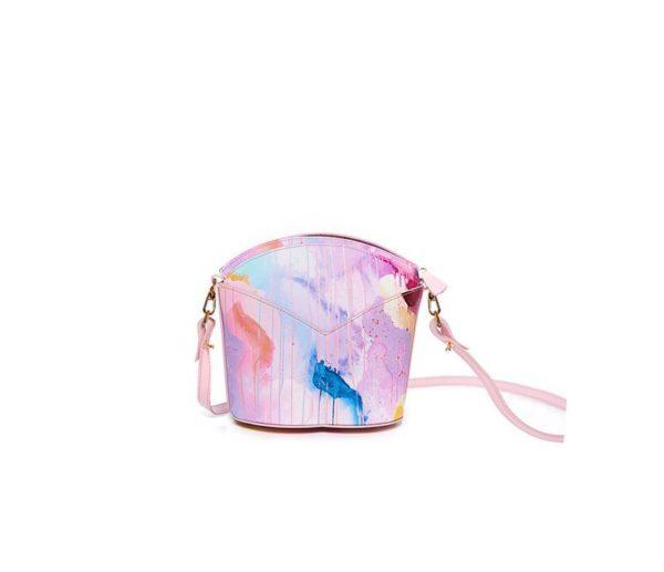 Bolsos exclusivos de piel decorados con arte contemporáneo - Arena Martínez - Pink Candycruch Susi Bag-2