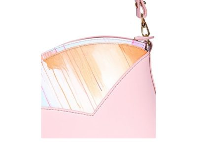 Exclusive leather bags decorated with art - Arena Martínez - Pink Sky Susi Bag