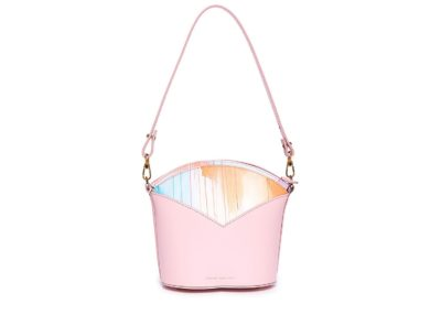 Exclusive leather bags decorated with art - Arena Martínez - Pink Sky Susi Bag-1