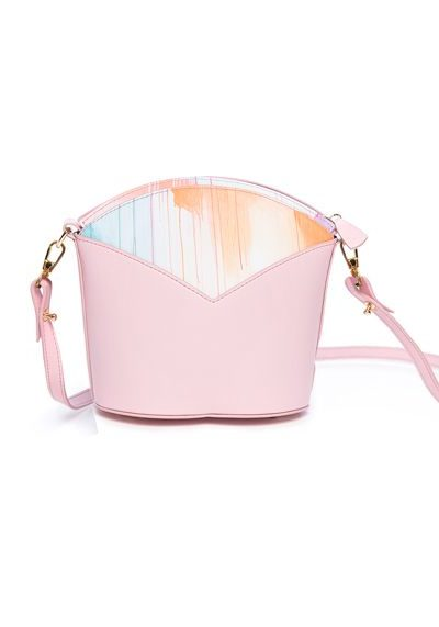 Exclusive leather bags decorated with art - Arena Martínez - Pink Sky Susi Bag-2