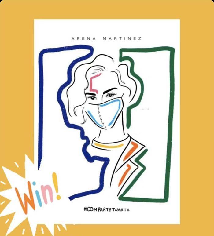 Exclusive fashion with contemporary art - Arena Martínez - Imagen concurso Arena Martínez - covid-19-2